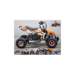 Mini Moto ATV 49cc 2T Cuadrimoto Naranjo