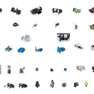 Bombas agua, combustible, aire, accesorios