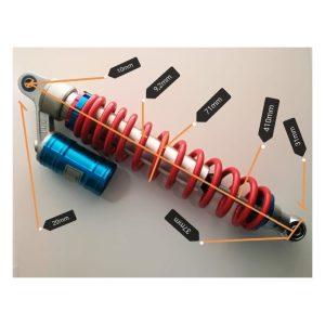 Amortiguador regulable y c/aire 41x7,5cm