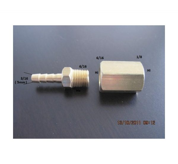 Conector compresor manguera aerografo