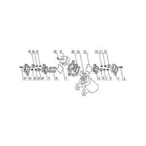 Repuesto Bomba FL-2202-12 conical valve Nº 4-11-16-24