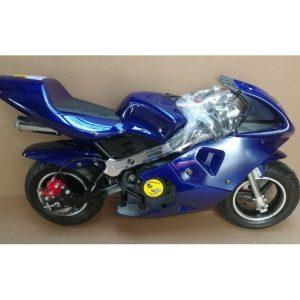 Moto Pocket Bike 49cc azul