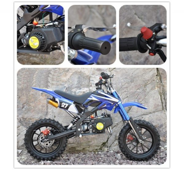 Moto Mini Cross 49cc azul