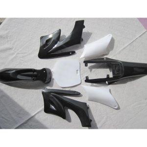 Carcasa Plastica Mini Moto Cross 49cc2T Negro-blanco