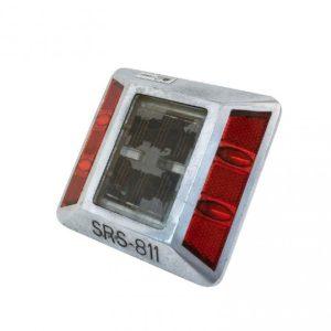 Luz led solar calle intermitente rojo