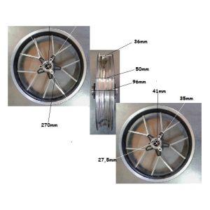 Llanta D10 2.75/2.50-10 trasera