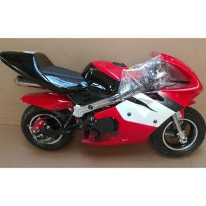 Moto Pocket Bike 49cc negro rojo Blanco