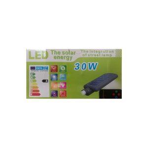 Foco solar Fotovoltaico calle jardín c/control y sensor 30w