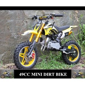 Mini Moto Cross 49cc amarilla