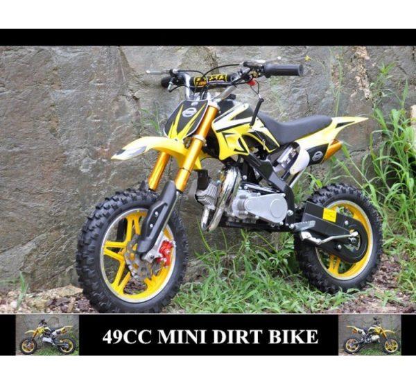 Mini Moto Cross 49cc amarilla