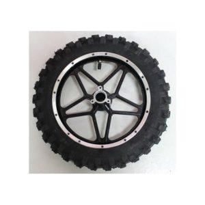 Rueda 10D 2.50-10 Alum negra mini moto cros 49cc