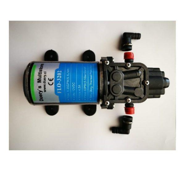 Bomba FLO-3202 agua 5.1L/min 12vdc 4.5A 80psi
