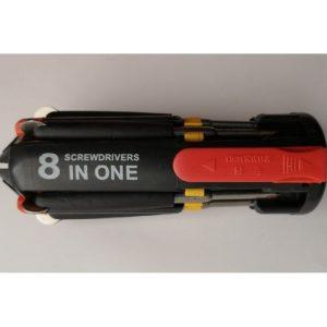 Herramienta destornillador 8 en 1 Screwdrive 8pzas con luz 185g